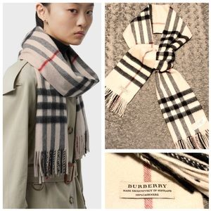 Burberry Classic Check Cashmere Scarf paid $475
